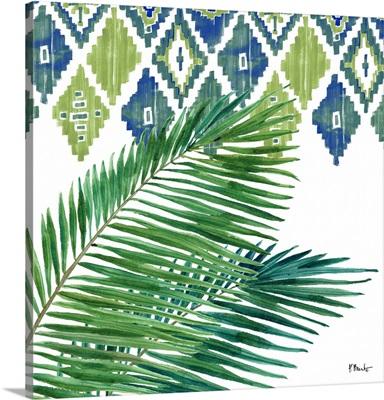 Palm Fronds V - Blue