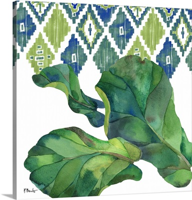 Palm Fronds VI - Blue
