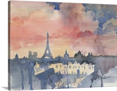 Paris Skyline from Pompidou Center