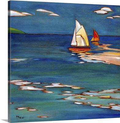 Portofino Distant Sails