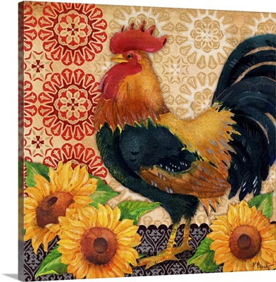 Roosters and Sunflowers II