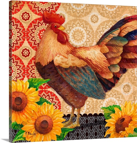 Roosters And Sunflowers Iv Wall Art Canvas Prints Framed Prints Wall Peels Great Big Canvas