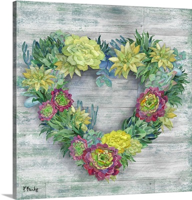 Succulent Wreath II
