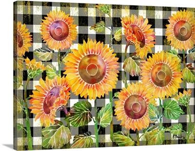 Sunflower Gingham Horizontal