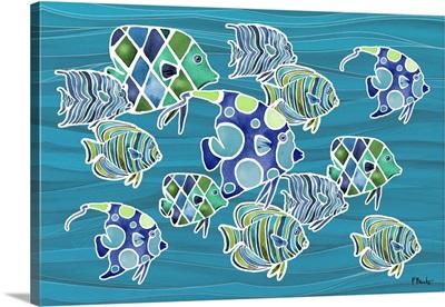 Tahiti Blues Horizontal - Azul