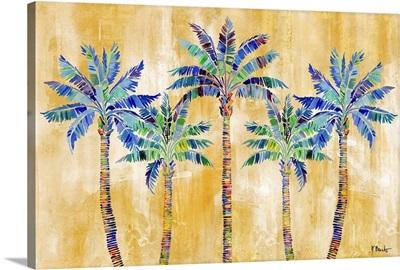 Tahiti Palm Horizontal - Golden