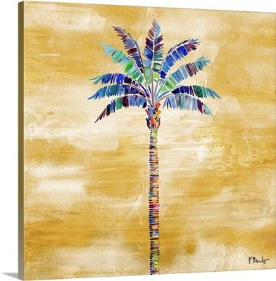 Tahiti Palm I - Golden