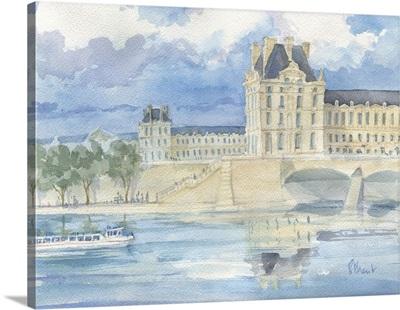 The Louvre with a Bateau Mouche