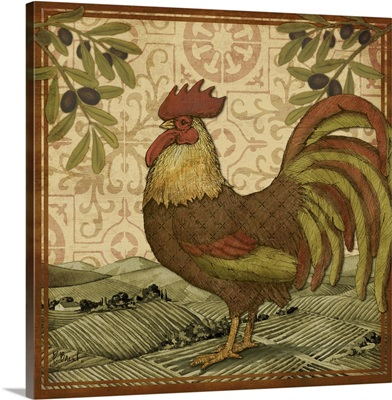 Tuscan Rooster I - Square