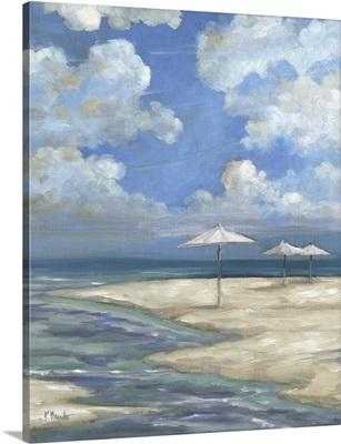Umbrella Beachscape - White