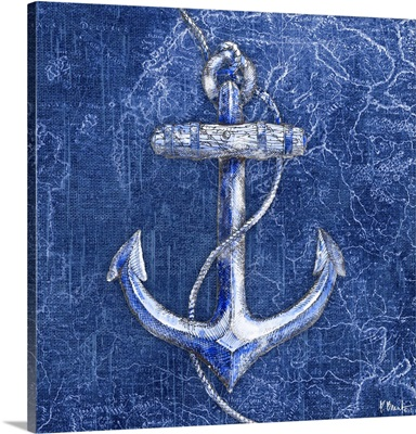 Vintage Nautical I - Indigo