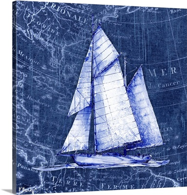 Vintage Nautical V - Indigo