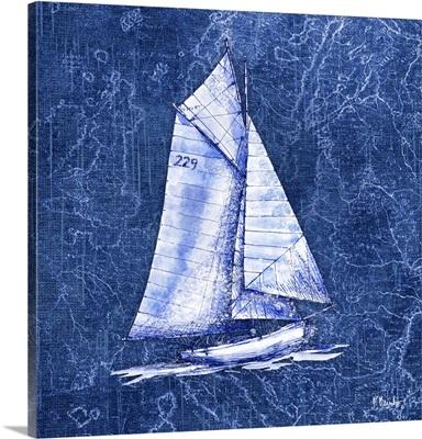 Vintage Nautical VI - Indigo