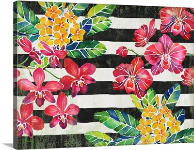 Vintage Orchid Horizontal - Stripe