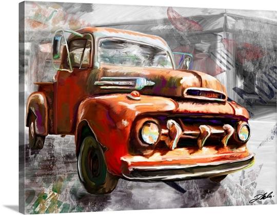 1950 Ford Truck Wall Art, Canvas Prints, Framed Prints, Wall Peels ...