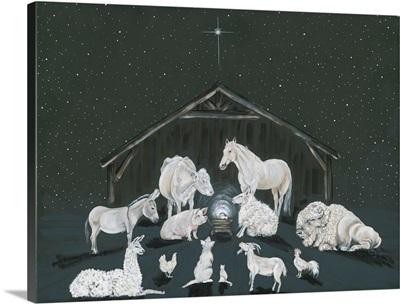 Animal Nativity Scene