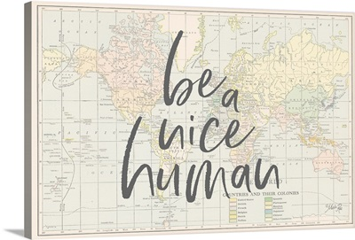 Be a Nice Human Map