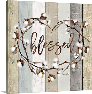 Blessed Cotton Wreath