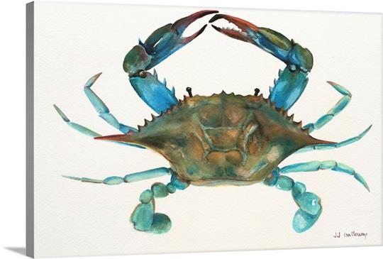 Blue Crab Wall Art Canvas Prints Framed Prints Wall