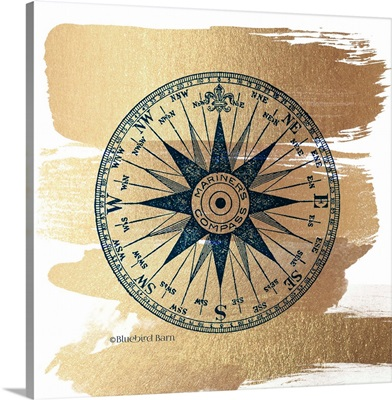 Brushed Gold Compass Rose