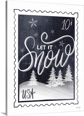 Christmas Stamp Let It Snow