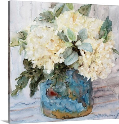 Country Basket Of Blooms I