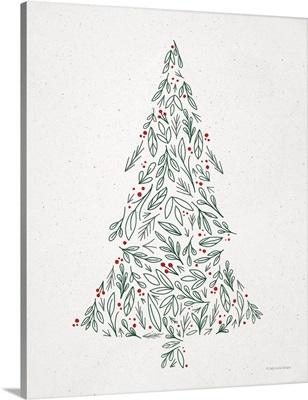 Floral Christmas Tree III