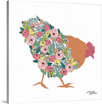 Floral Rooster