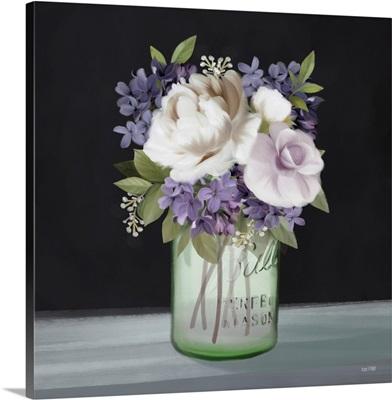 Lilac Mason Jar Floral