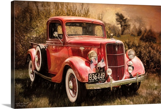 Little Red Truck Wall Art, Canvas Prints, Framed Prints ...