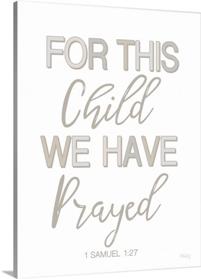 Nursery - For This Child We Have Prayed