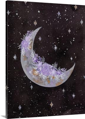 Purple Flowers On The Moon
