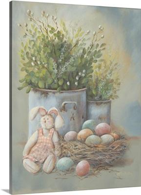 Rustic Easter Vignette