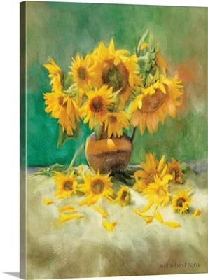 Sunflower Scatter Still Life