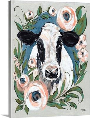 Vintage Frame Cow