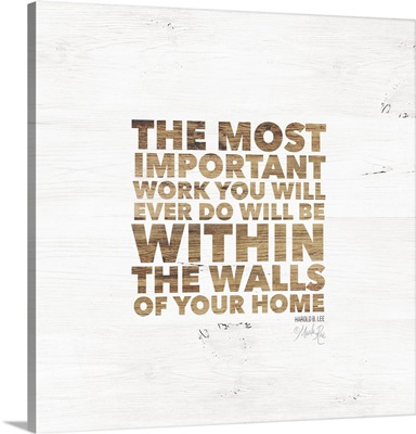 Within the Walls of Your Home