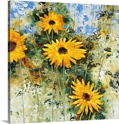 Antiqued Sunflowers