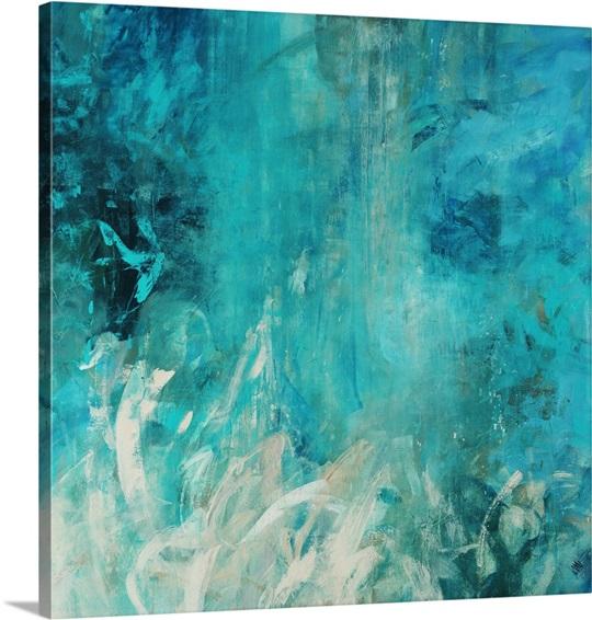 Aqua falls wall art by jodi maas aqua falls canvas