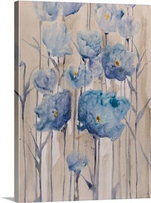 Blue Petals Rising I