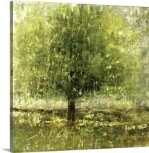 Green Lit Tree