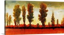 Tall Trees Horizontal Red