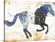 Galloping Blue Horse