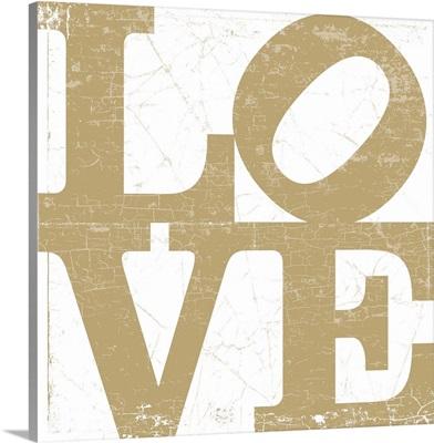 LOVE Type (Gold)