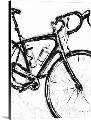 Road Bike Painting Wall Art, Canvas Prints, Framed Prints, Wall ...