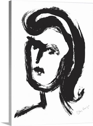 Sketch Of A Lady Wall Art Canvas Prints Framed Prints Wall Peels Great Big Canvas