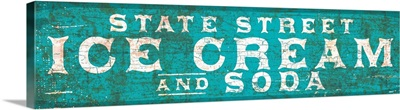 Vintage State Street Ice Cream Trade Sign
