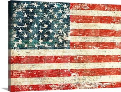 Worn USA Flag