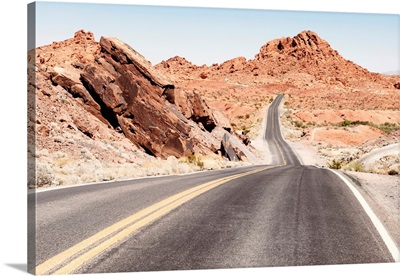 American West - Nevada Desert Road