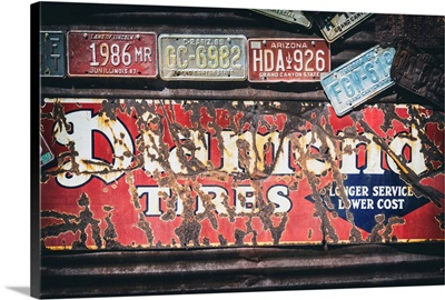 American West - Old US License Plates