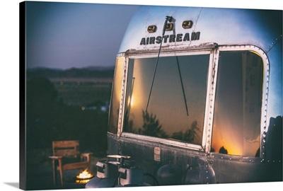 American West - Sunset Airstream